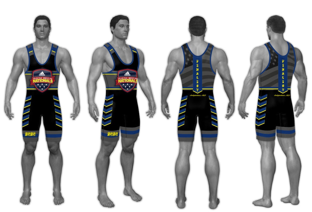 2020 Adidas Nationals Men's Singlet (Blue)