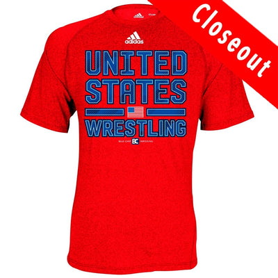 Adidas Climalite United States Wrestling Red T-Shirt