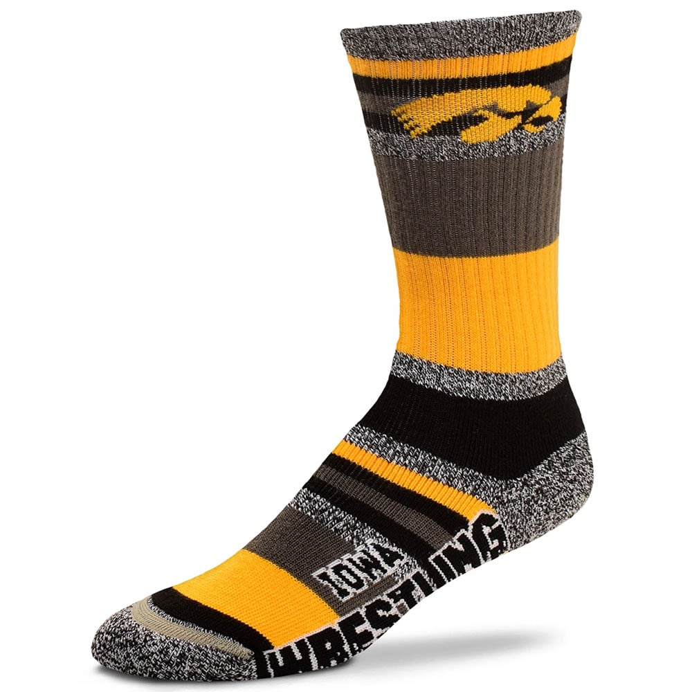 Iowa Hawkeyes Mountain Stripe Wrestling Socks