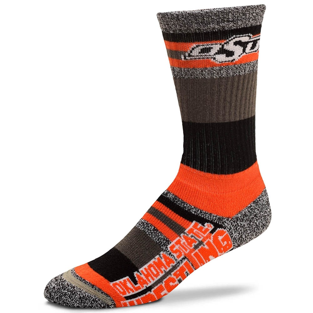 Oklahoma State Cowboys Mountain Stripe Wrestling Socks