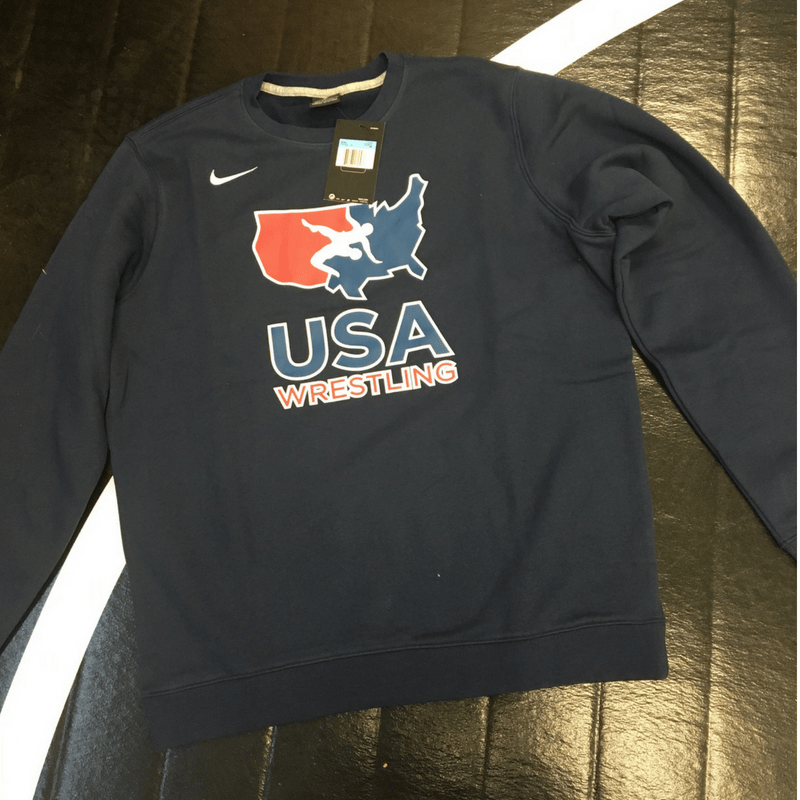 Nike USA Wrestling Club Crew (Navy)