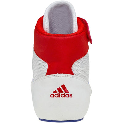Adidas Youth HVC 2 K Wrestling Shoes (White / Red / Royal)