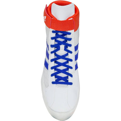 Adidas HVC 2 Wrestling Shoes (White / Red / Royal)