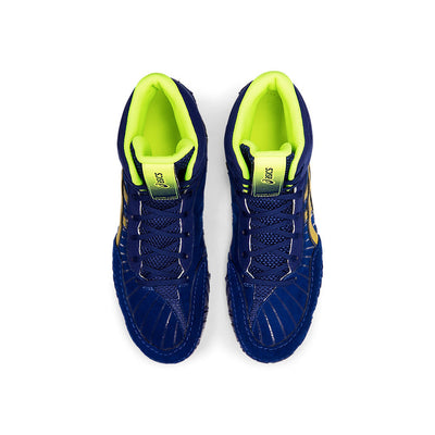 Asics Aggressor 4 Wrestling Shoes (Dive Blue / Rich Gold)