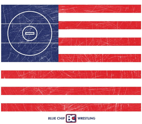 American Flag Wrestling Mat Sticker