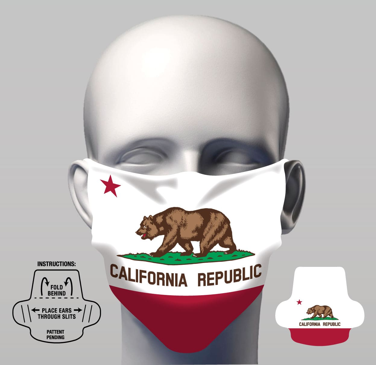 Face Cover - CA Flag