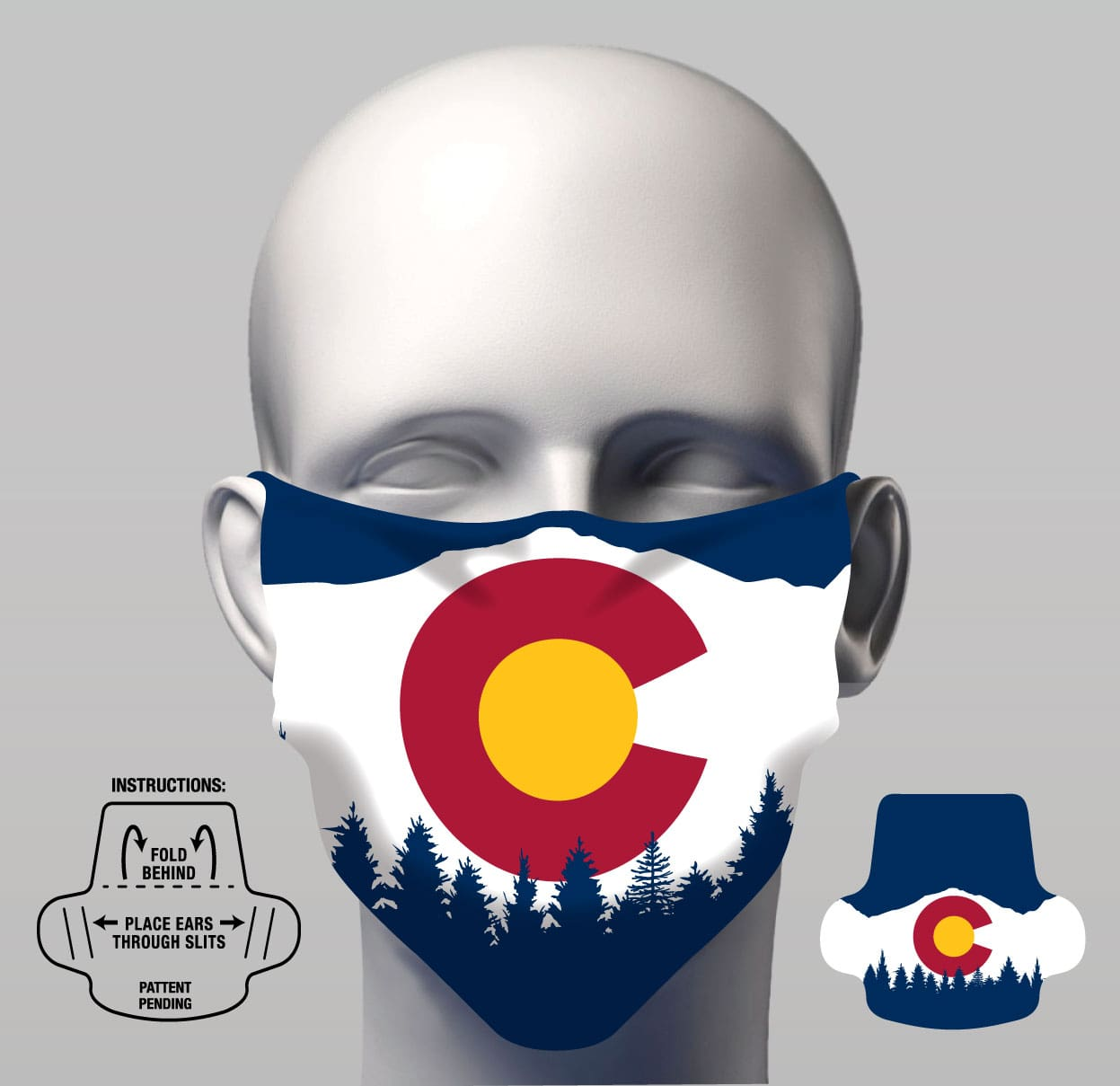 Face Cover - CO Flag