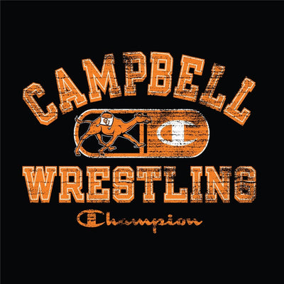 Campbell Camels Champion Wrestling T-Shirt