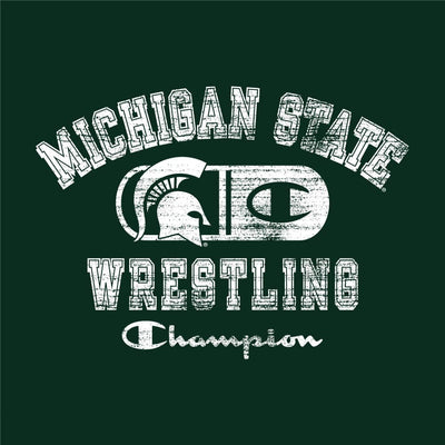 Michigan State Spartans Champion Wrestling T-Shirt