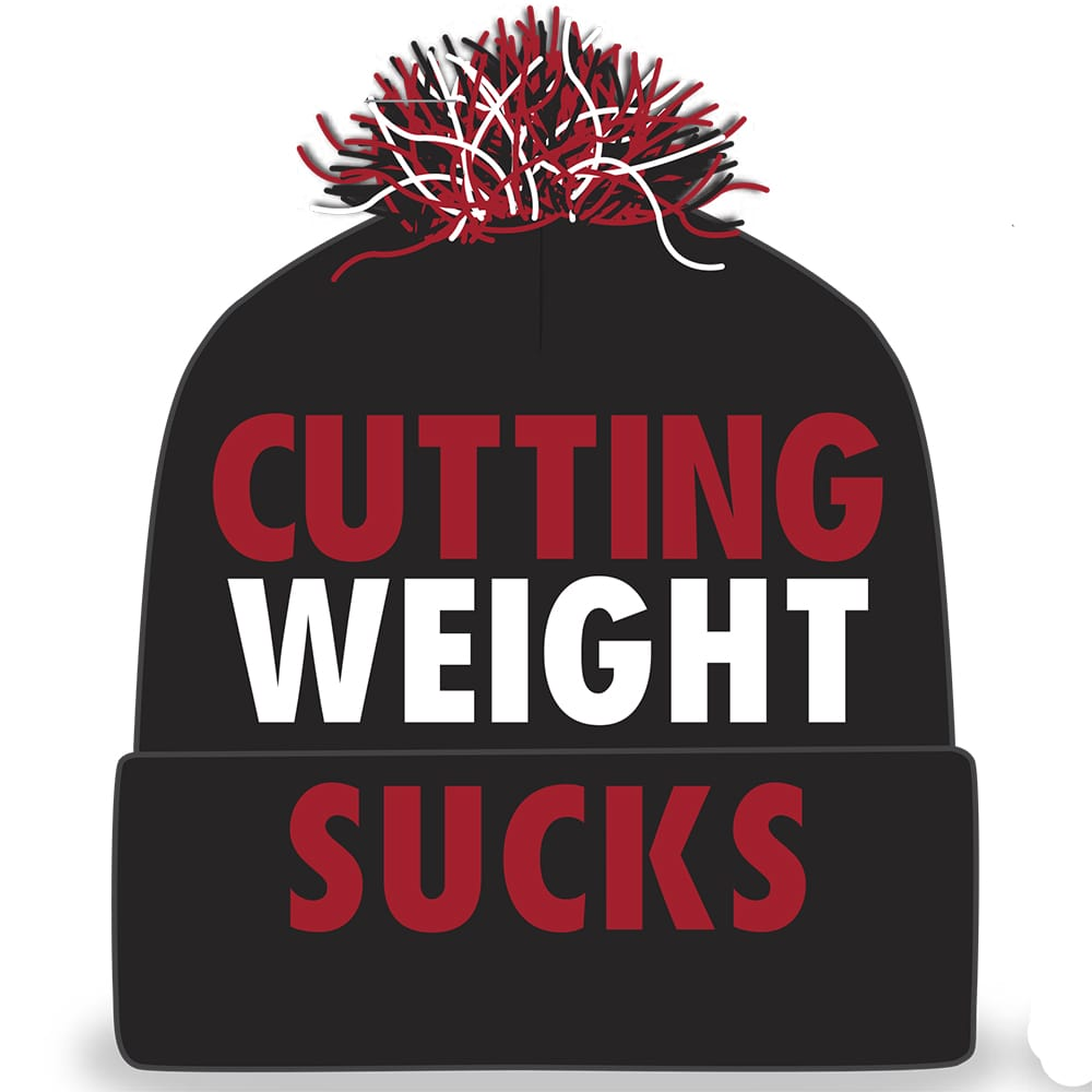Cutting Weight Sucks Embroidered Knit Beanie
