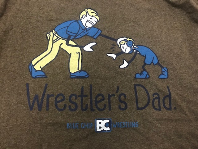 Wrestlers Dad Family Circle Tee (Brown)