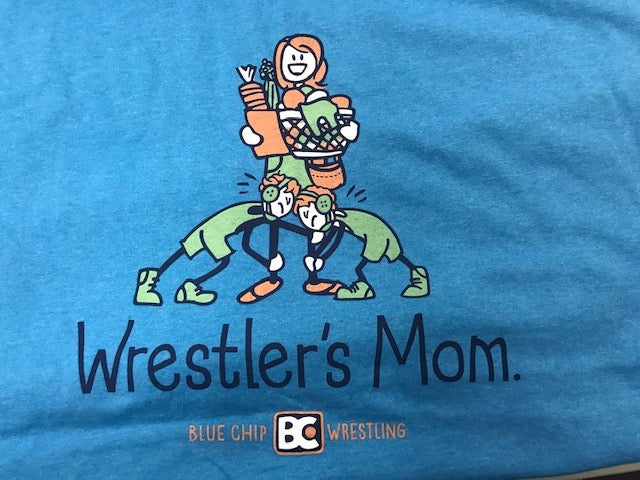 Wrestlers Mom Family Circle Shirt (Teal)