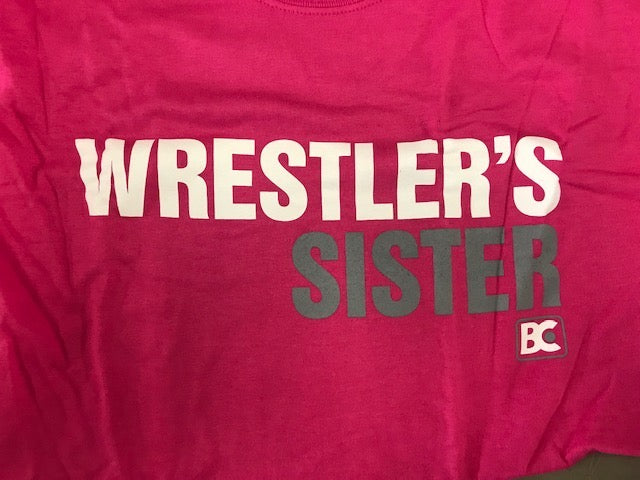 Wrestlers Sister - White / Grey on Pink