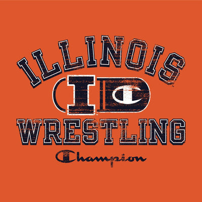 Illinois Fighting Illini Champion Wrestling T-Shirt
