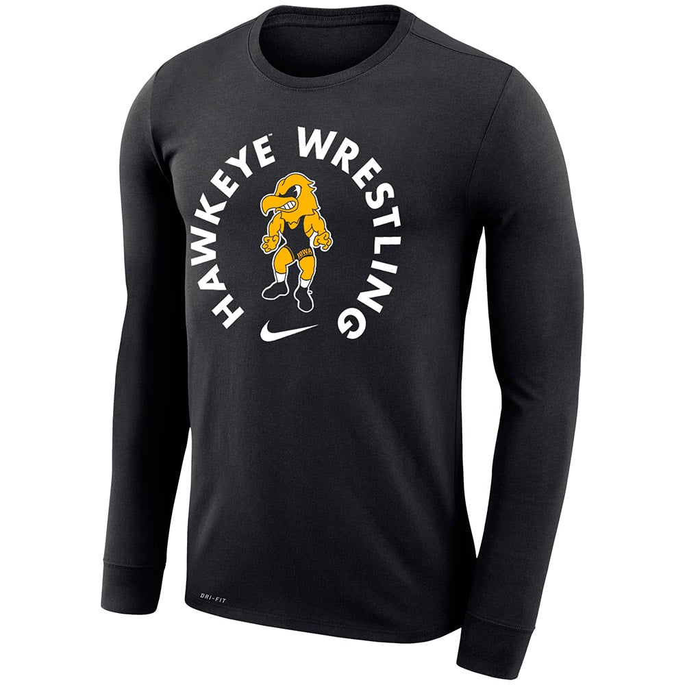 Iowa Hawkeyes Wrestling Nike Dri-Fit Legend 2.0 Long Sleeve T-Shirt