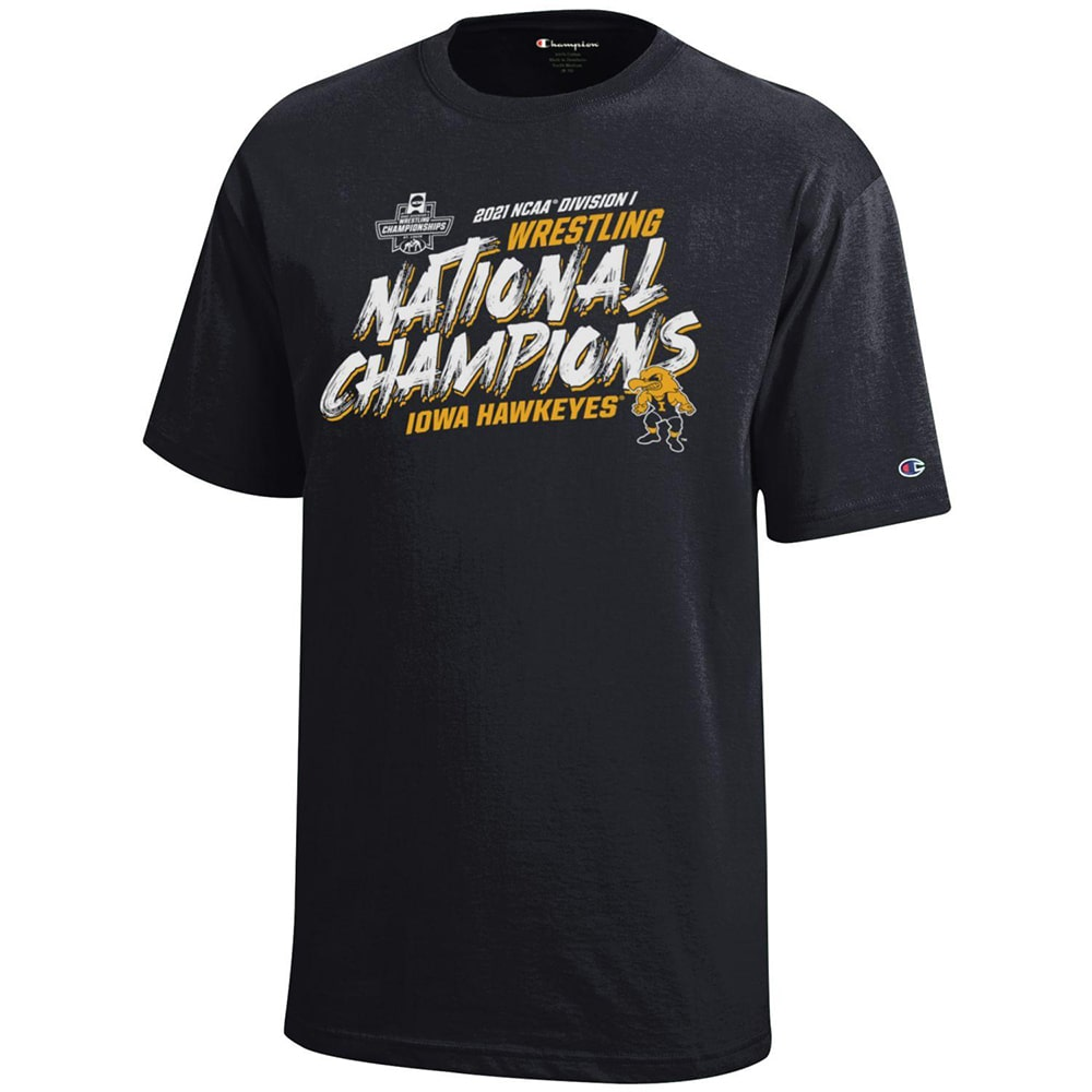 2021 Iowa Hawkeyes NCAA Wrestling Team Champion T-Shirt