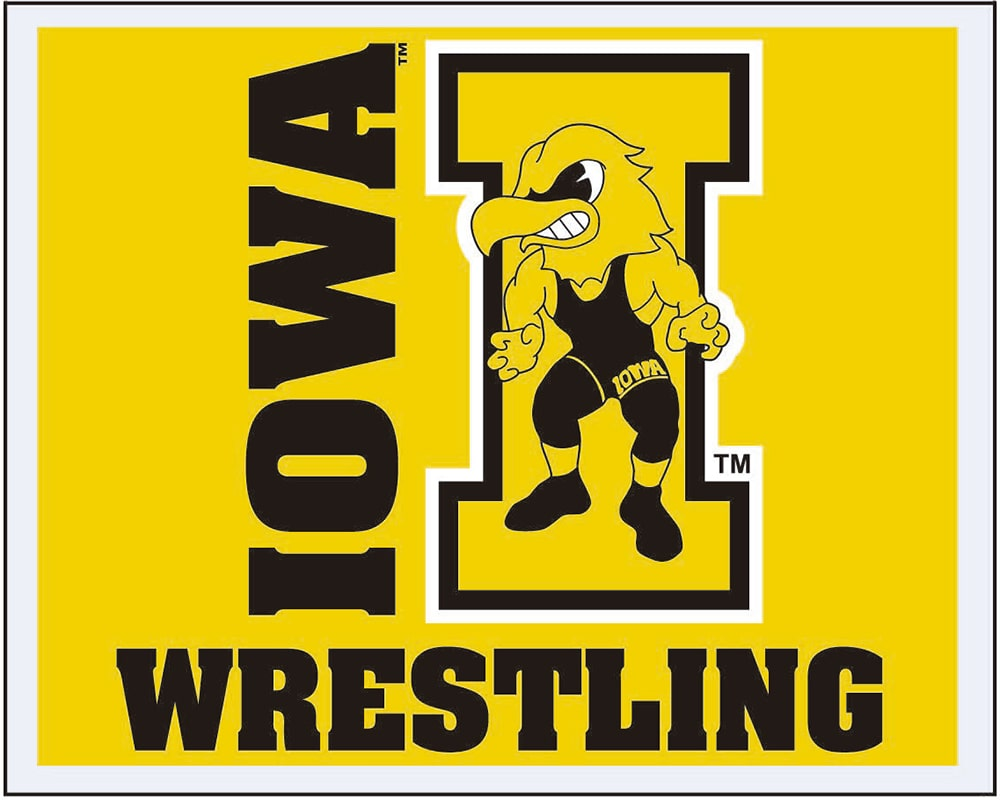 Iowa Hawkeyes Wrestling Multi Use Sticker