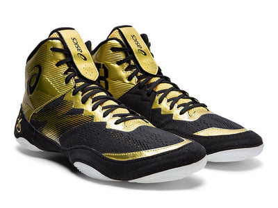 Asics JB Elite IV Wrestling Shoes (Rich Gold / Black)