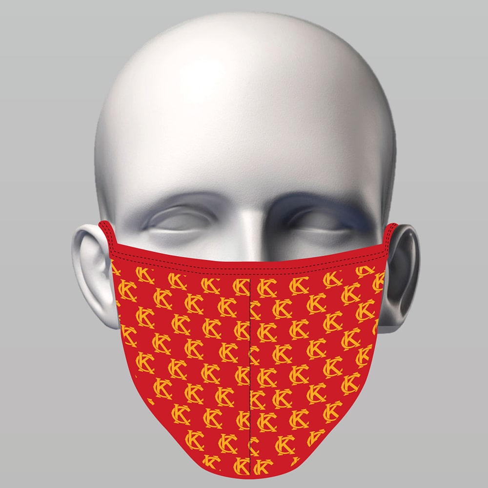 Sewn  Face Mask - KC Red