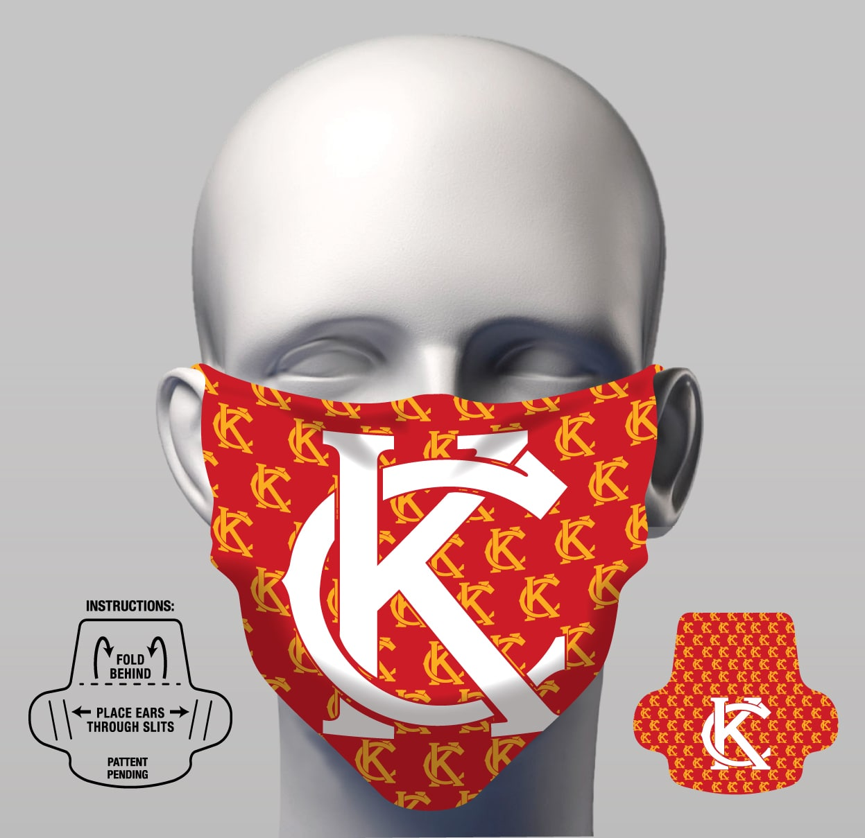 Face Cover - KC Red