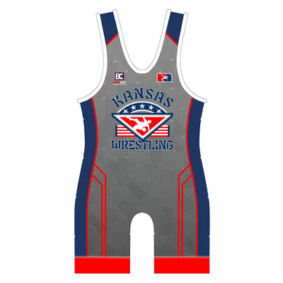 2018 Kansas USA Wrestling Singlet (Grey)