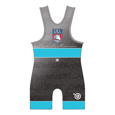 Made in America 5.0 Blue Wrestling Singlet