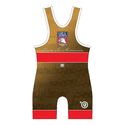 Made in America 5.0 Red Wrestling Singlet