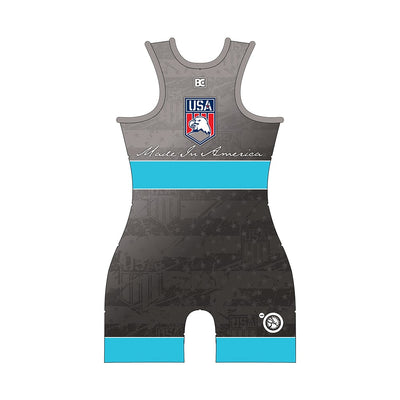 Made in America 5.0 Womens Blue Wrestling Singlet