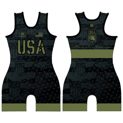 Made in America 5.0 Black Ops Womens Wrestling Singlet