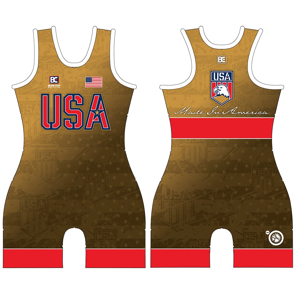 Made in America 5.0 Womens Red Wrestling Singlet
