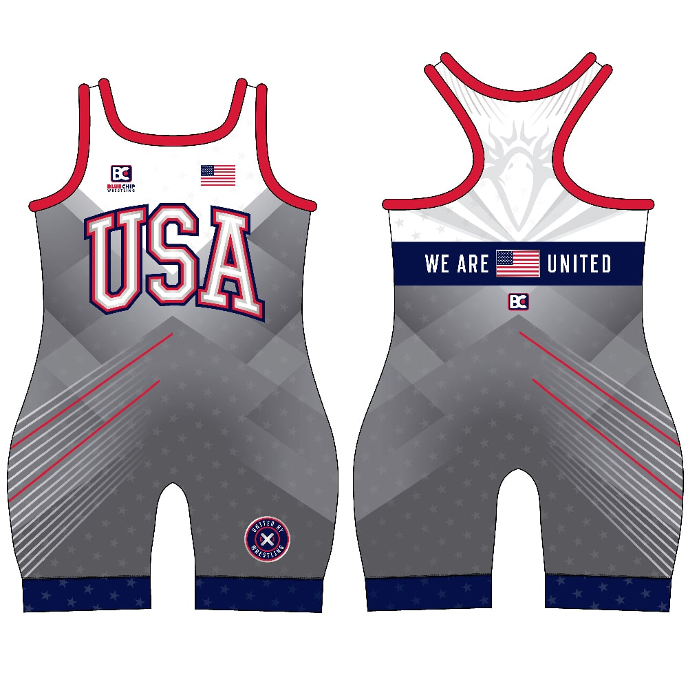 Blue Chip United Women's Wrestling Singlet - Gray