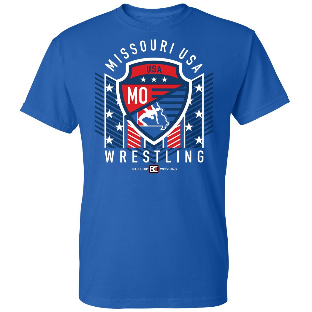 Missouri USA Wrestling Blue Shield Tee