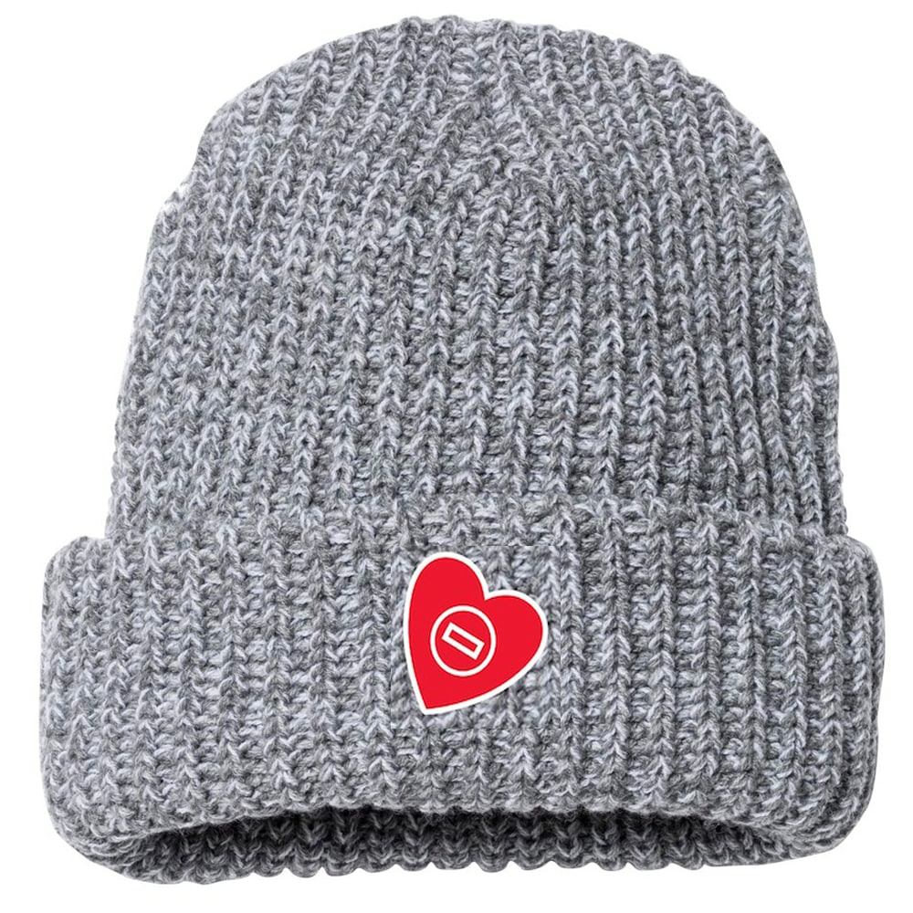 Mat Heart Embroidered Wrestling Beanie