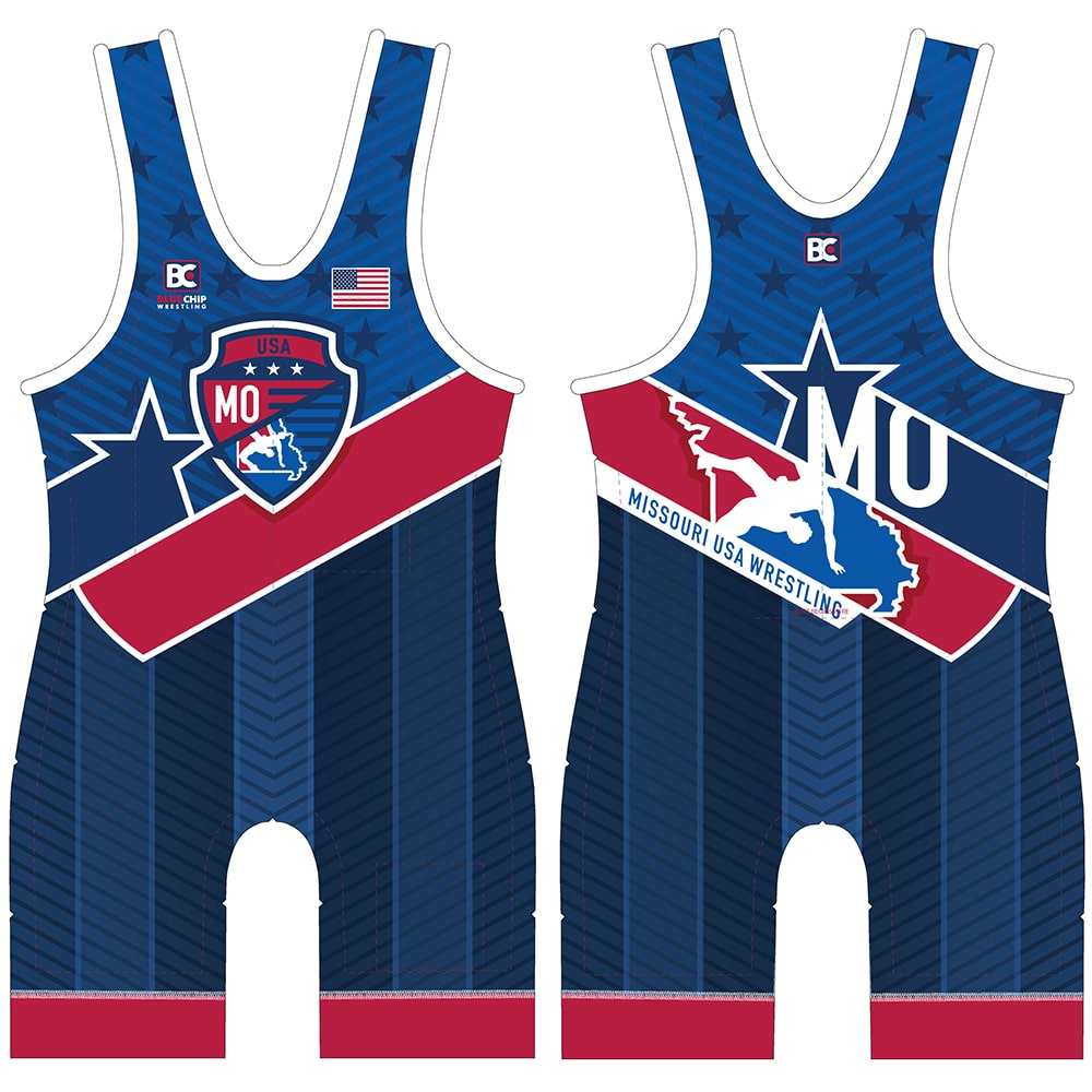 2019 Missouri USA Wrestling Singlet (Blue)