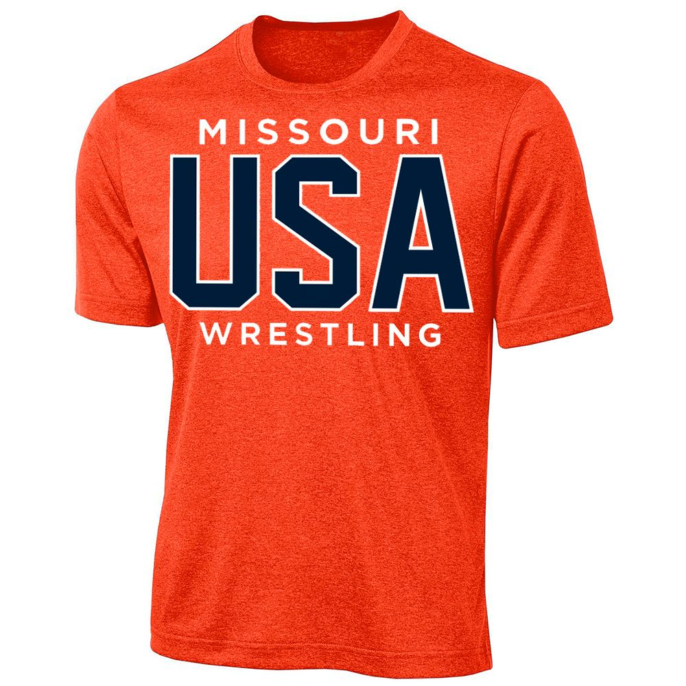 Missouri USA Wrestling Performance Tee (Orange)