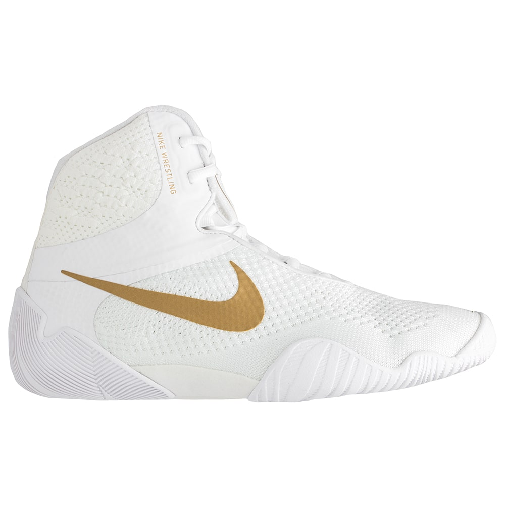 Nike Tawa Wrestling Shoes (White / Metallic Gold)