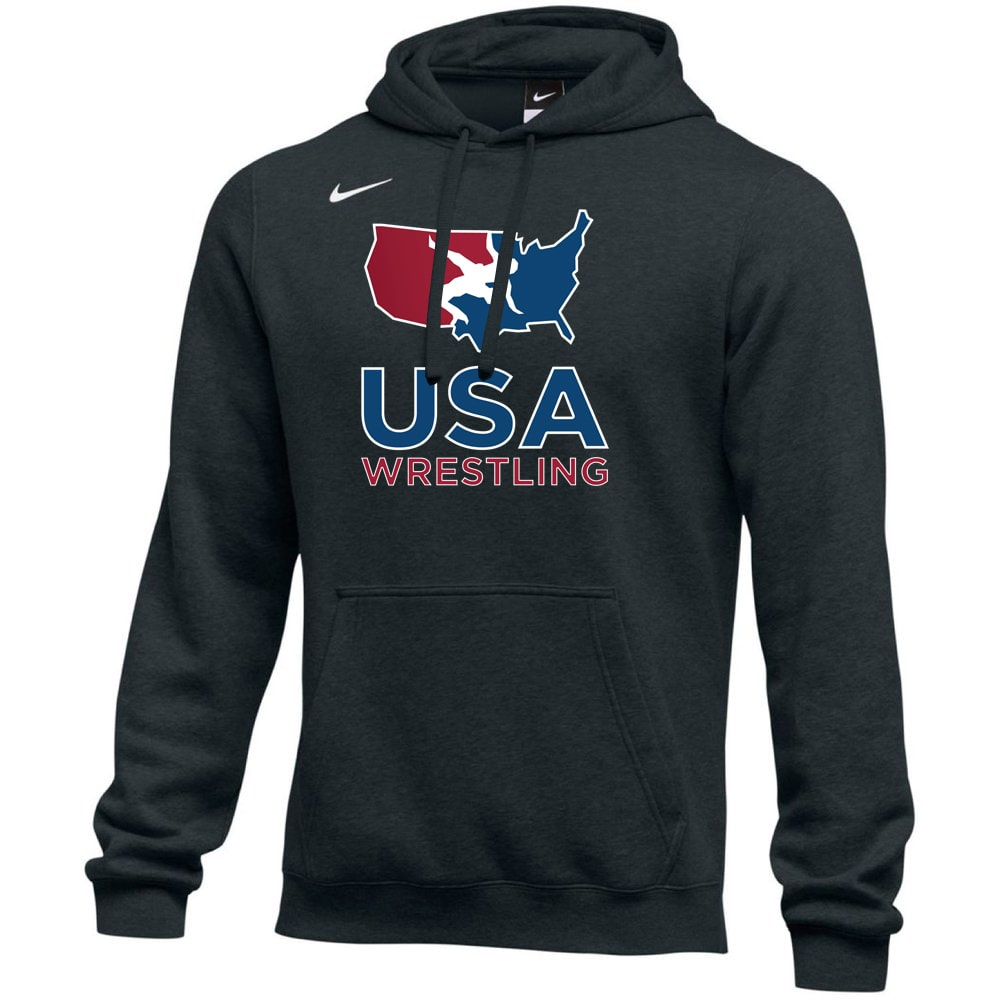 Nike USA Wrestling Club Fleece Hoodie (Black)