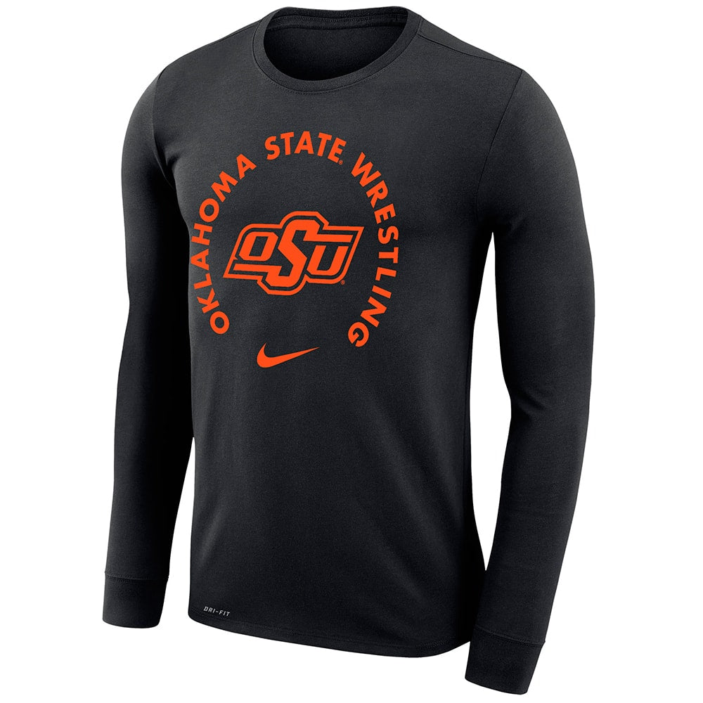 Oklahoma State Cowboys Wrestling Nike Dri-Fit Legend 2.0 Long Sleeve T-Shirt