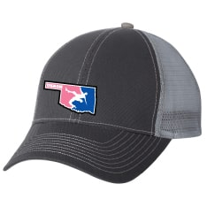 Oklahoma USA Wrestling Trucker Cap (Grey / Pink / Navy)