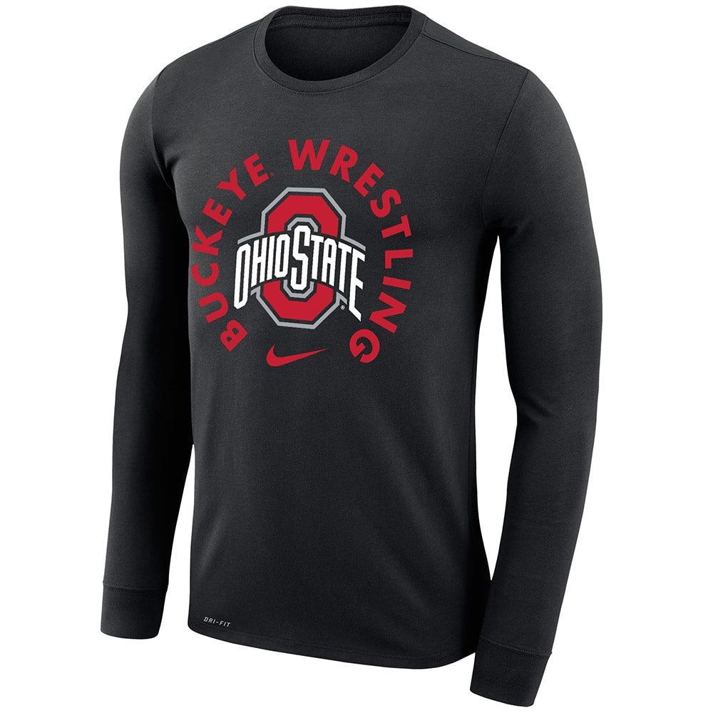 Ohio State Buckeyes Wrestling Nike Dri-Fit Legend 2.0 Long Sleeve T-Shirt