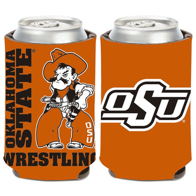Oklahoma State Cowboys Wrestling 12oz Can Cooler
