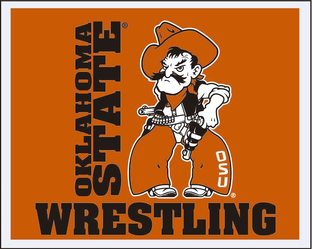 Oklahoma State Cowboys Wrestling Multi Use Sticker