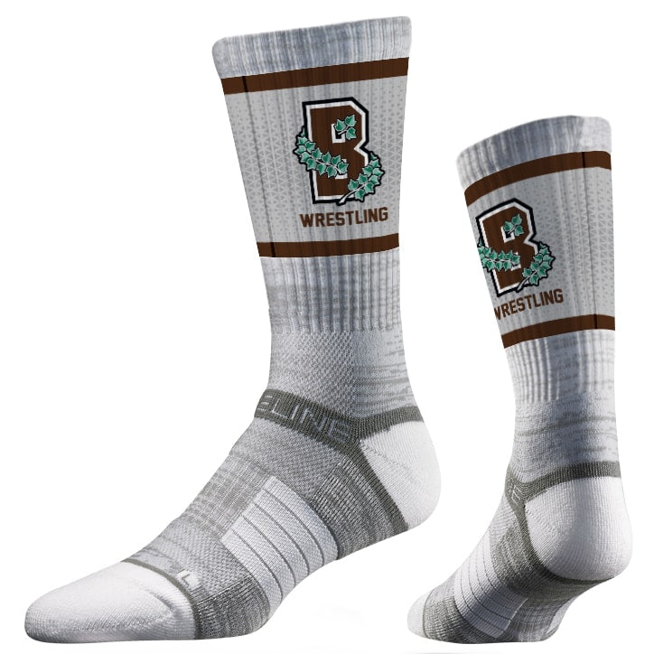 Brown University Bears Wrestling Performance Socks