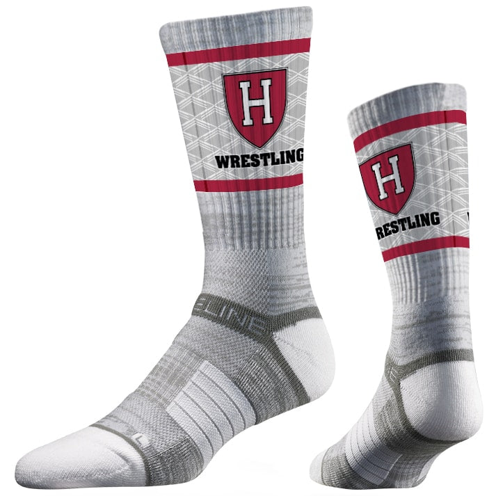 Harvard Crimson Wrestling Performance Socks