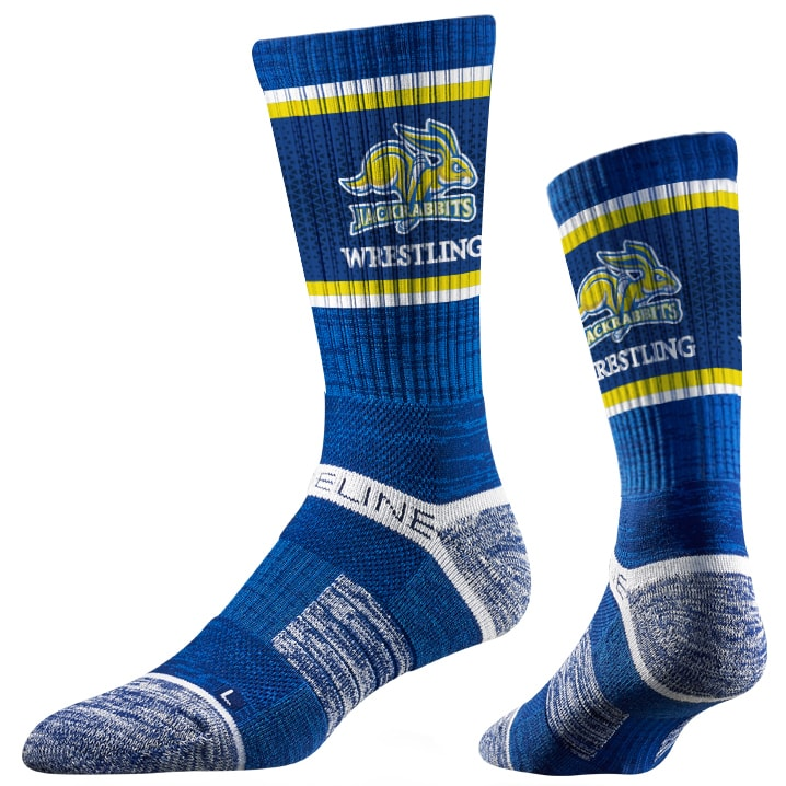 South Dakota State Jackrabbits Wrestling Performance Socks