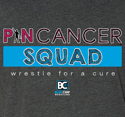 Pin Cancer Squad Wrestling T-Shirt