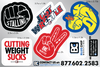 Blue Chip Wrestling Sticker Sheet - 6x9