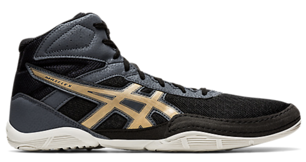 Asics Matflex 6 Wrestling Shoes (Black / Champagne)