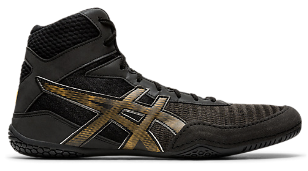 Asics Matcontrol 2 LE Lite-Show Wrestling Shoes (Black / Pure Gold)