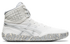 Asics Aggressor 4 Wrestling Shoes (White / Pure Silver)